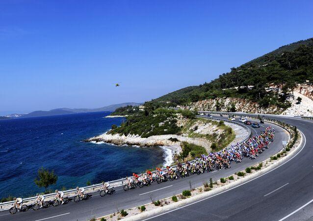 Esta foto de arquivo mostra um trecho da praia de Kusadasi, durante a Gira da Turquia em 2010