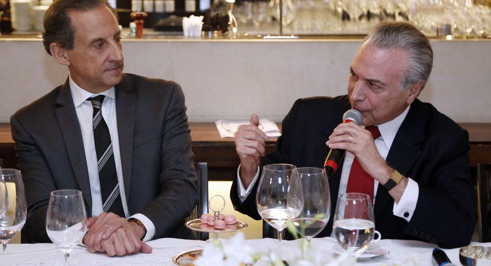 Paulo Skaf e Michel Temer