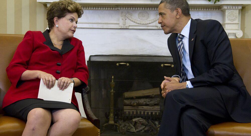 Dilma Rousseff é recebida por Barack Obama