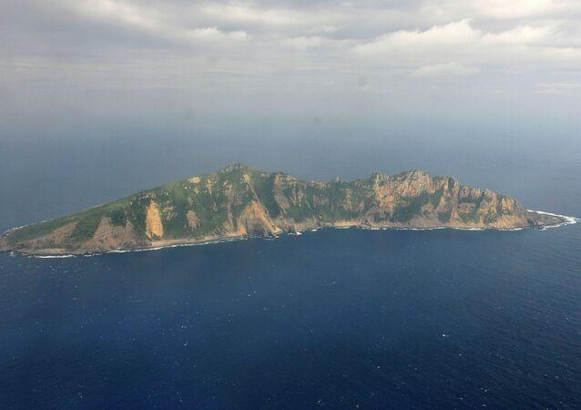 Uma das ilhas Senkaku, no mar da China Oriental, reivindicada pela China e conhecida como Diaoyu nesse país (foto de arquivo)