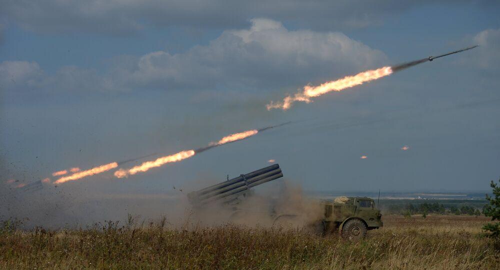 Lançadores de foguetes múltiplos russos