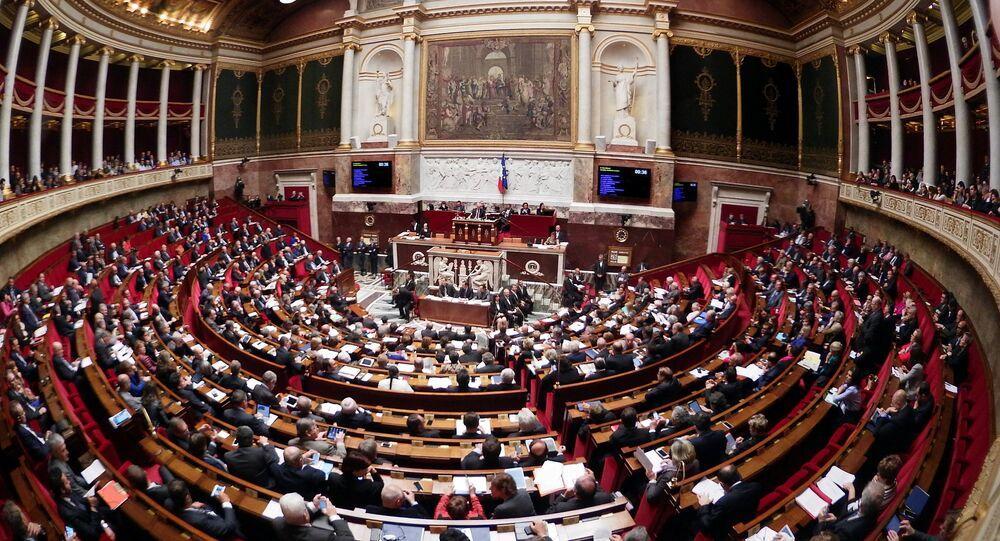 Vista geral da Assembleia Nacional da França, em Paris