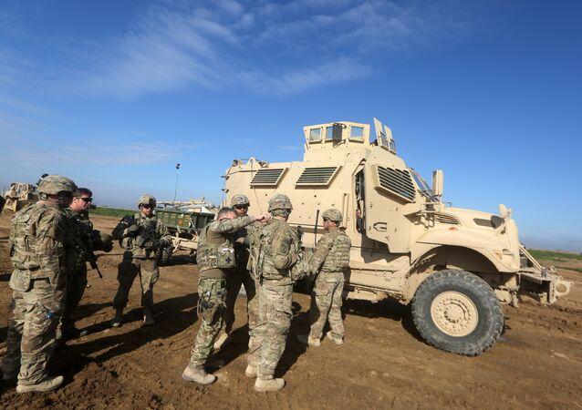 Soldados norte-americanos no nordeste da Síria (foto de arquivo)