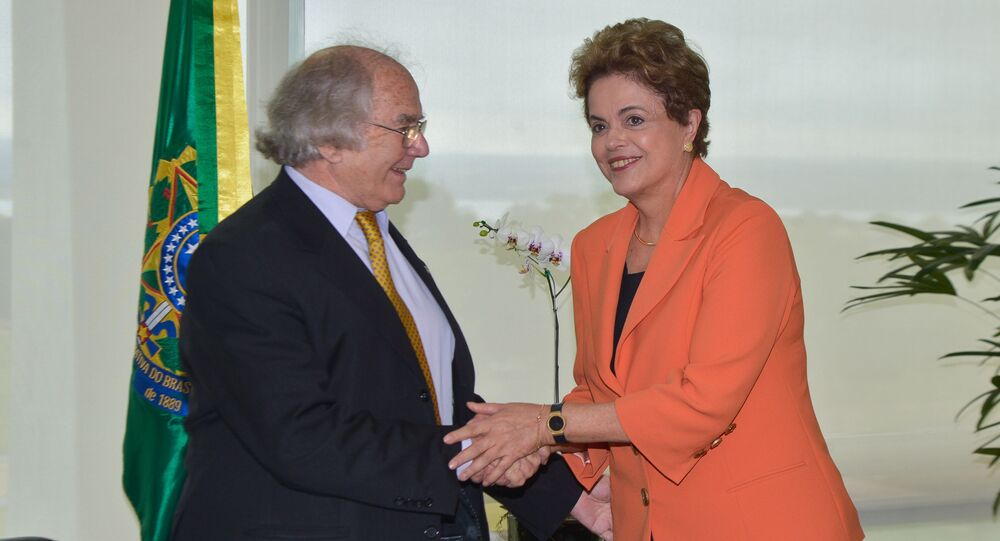 Presidenta Dilma recebe o Prêmio Nobel da Paz, Adolfo Pérez