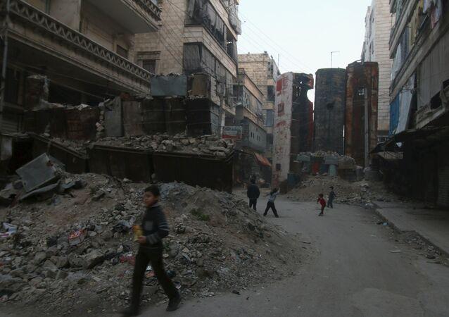 Bairro de Bustan al-Qasr em Aleppo, Síria