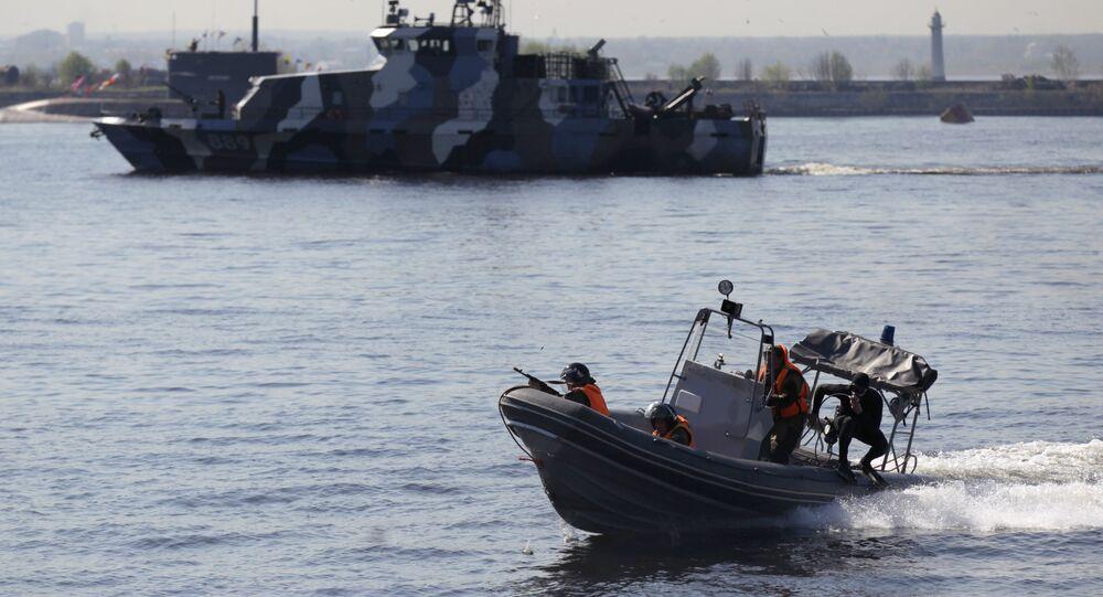 Ensaio para parada naval em Kronstadt