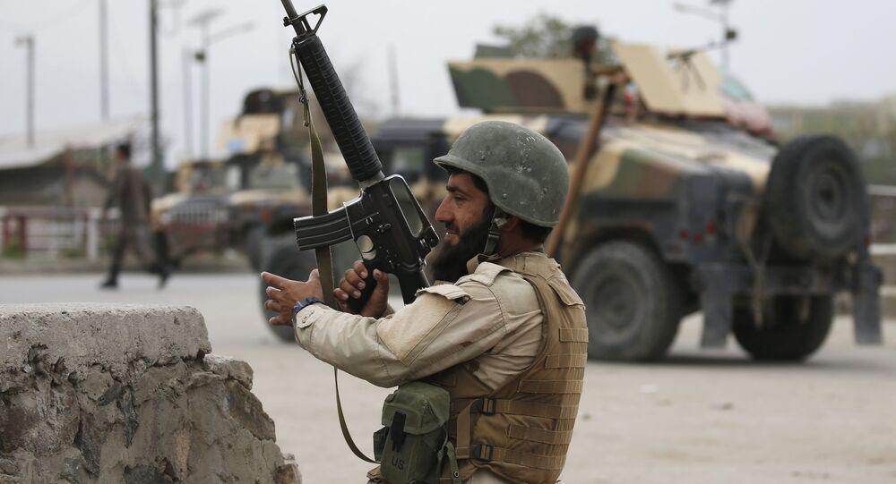 Soldado do Exército Nacional do Afeganistão em Cabul