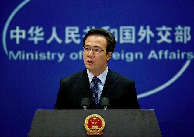 O representante oficial da Chancelaria chinesa, Hong Lei