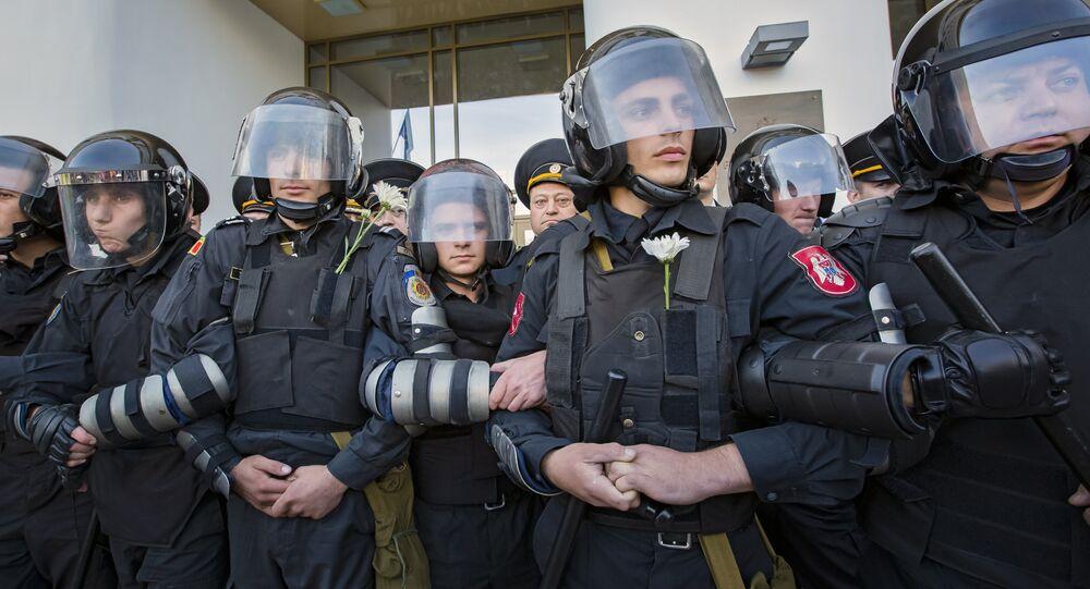 Polícia antimotim da Moldávia