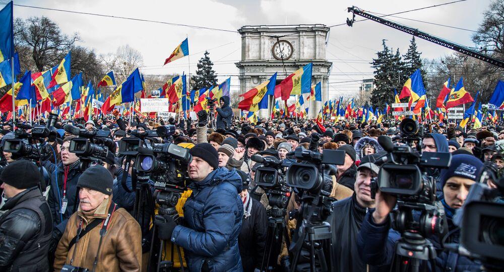 Protestos na Moldávia