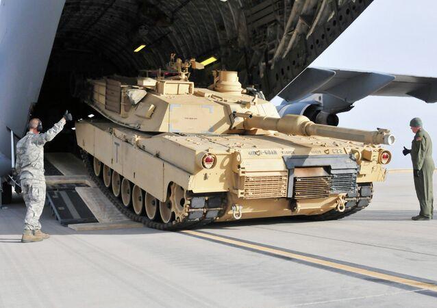 Tanque norte-americano Abrams M1A2 (foto de arquivo)