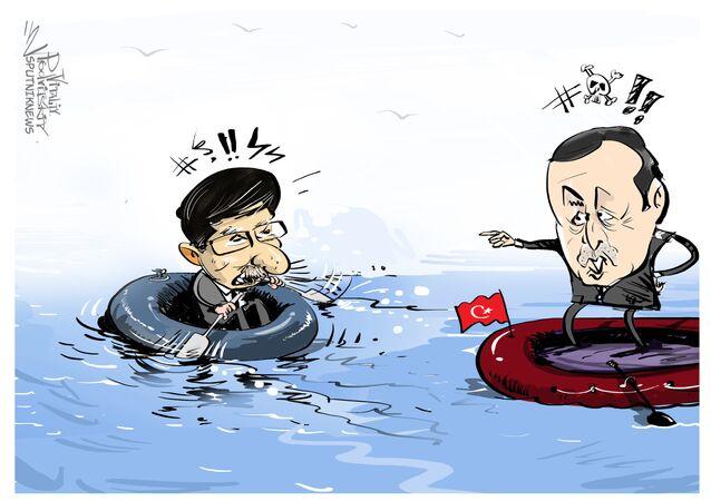 O primeiro-ministro da Turquia, Ahmet Davutoglu, renunciou em 5 de maio 2016