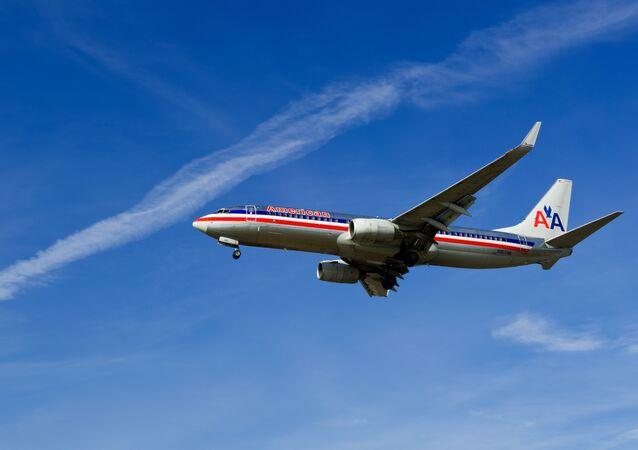 A aeronave da empresa American Airlines
