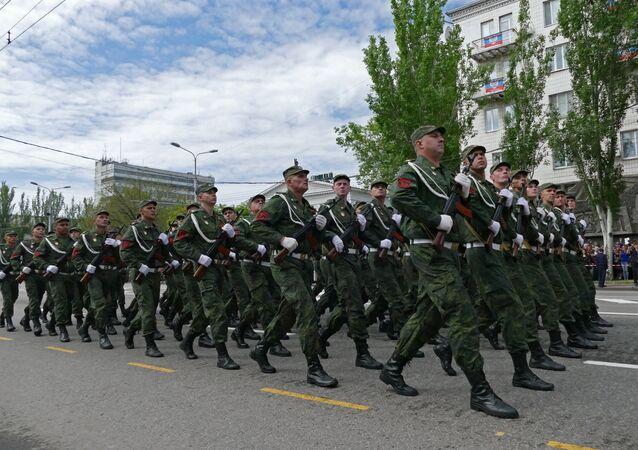A celebração do Dia da Vitória na Segunda Guerra Mundial na região de Donetsk