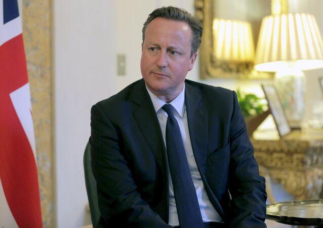 Primeiro-ministro do Reino Unido David Cameron encontra-se com o seu homólogo da Nova Zelândia, John Key, em Washington, 31 de março, 2016
