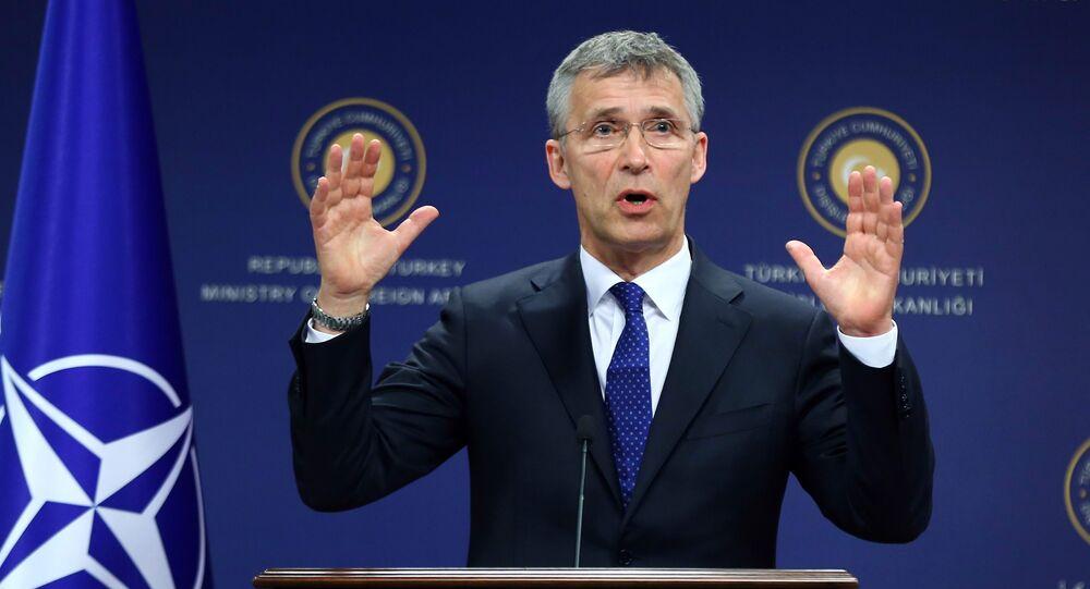 O Secretário-geral da OTAN Jens Stoltenberg