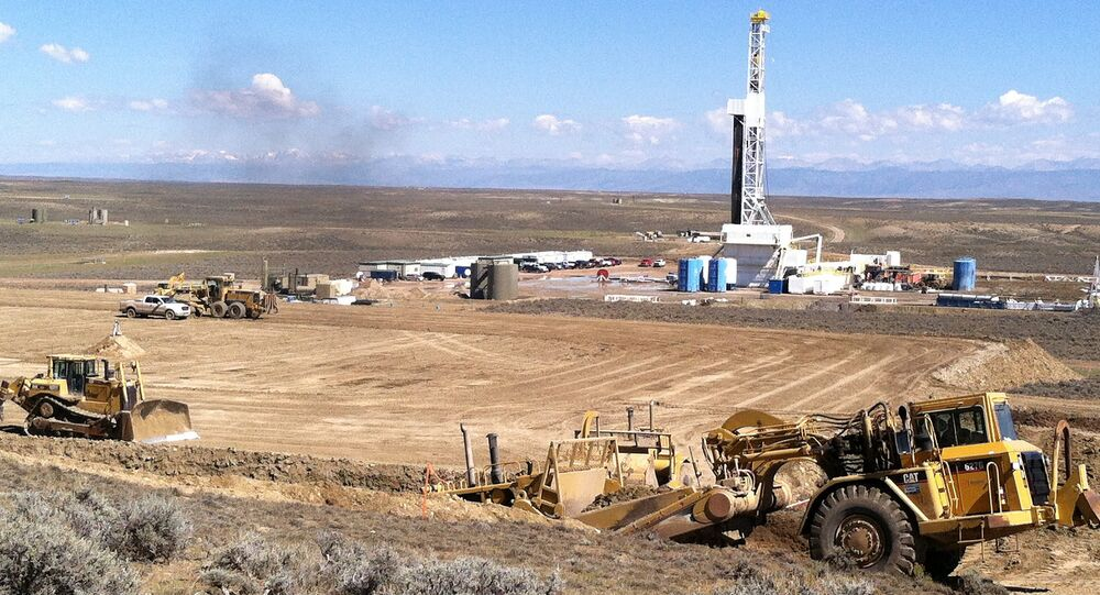 Fracking (fraturamento hidráulico) no estado de Wyoming, EUA