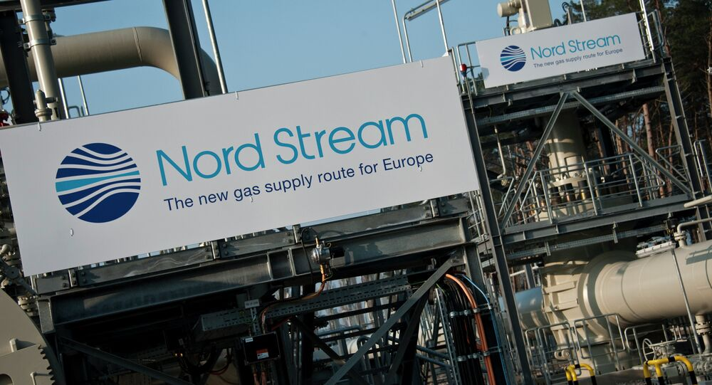 View of the Nordstream gas pipeline terminal prior to an inaugural ceremony for the first of Nord Stream's twin 1,224 kilometre gas pipeline through the baltic sea, in Lubmin November 8, 2011