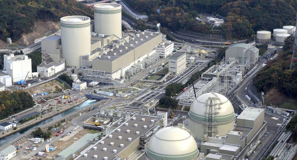 Central nuclear Takahama, Japão, em 27 de novembro de 2014
