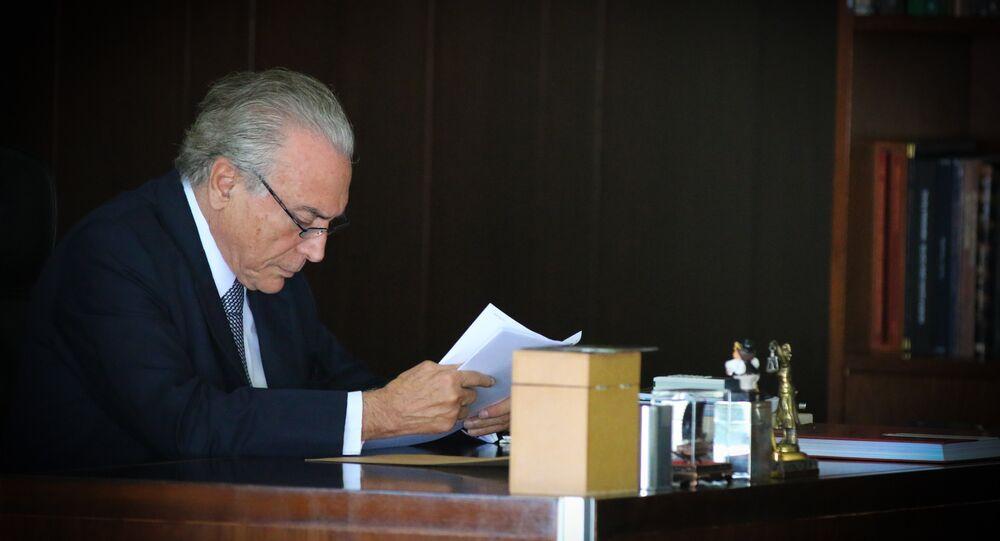 Presidente interino Michel Temer