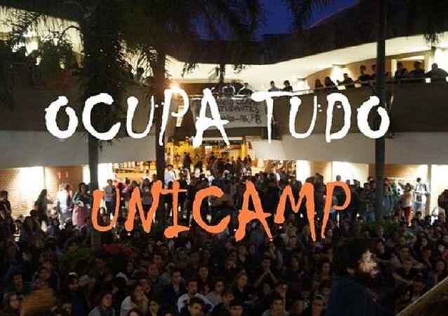 Cartaz do movimento OcupaTudo Unicamp