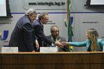 Deputados Constituintes Nelton Friedrich e Haroldo Sabóia na Comissão de Direitos Humanos e Legislação Participativa