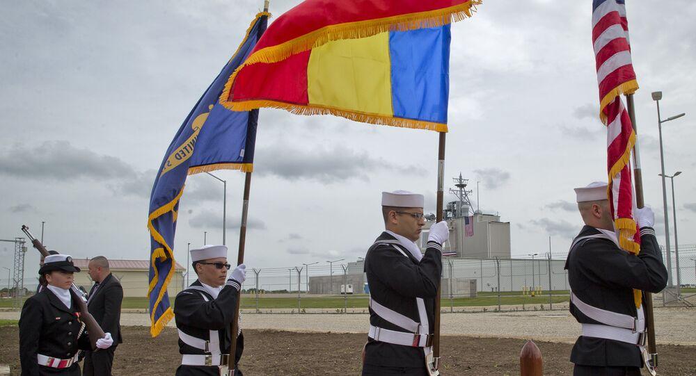 A cerimônia de lançamento do sistema de defesa antimíssil Aegis Ashore na Romênia. 12 de maio de 2016