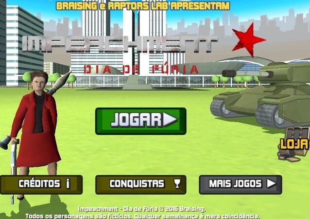 Dilma aparece vestida para matar em game 'Impeachment - Dia de Fúria', da Raptors Lab