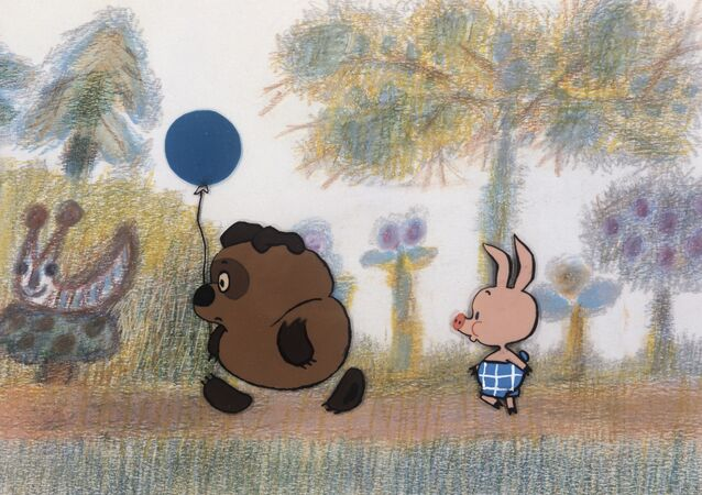 Desenho animado soviético Ursinho Pooh.