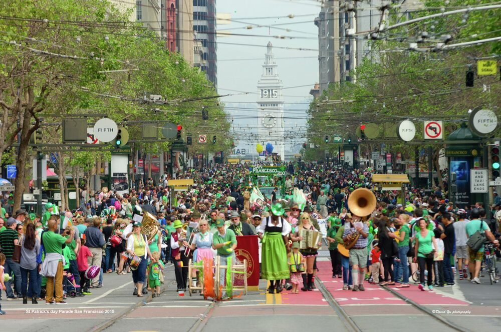 Celebrações do Dia de São Patrício em São Francisco, EUA