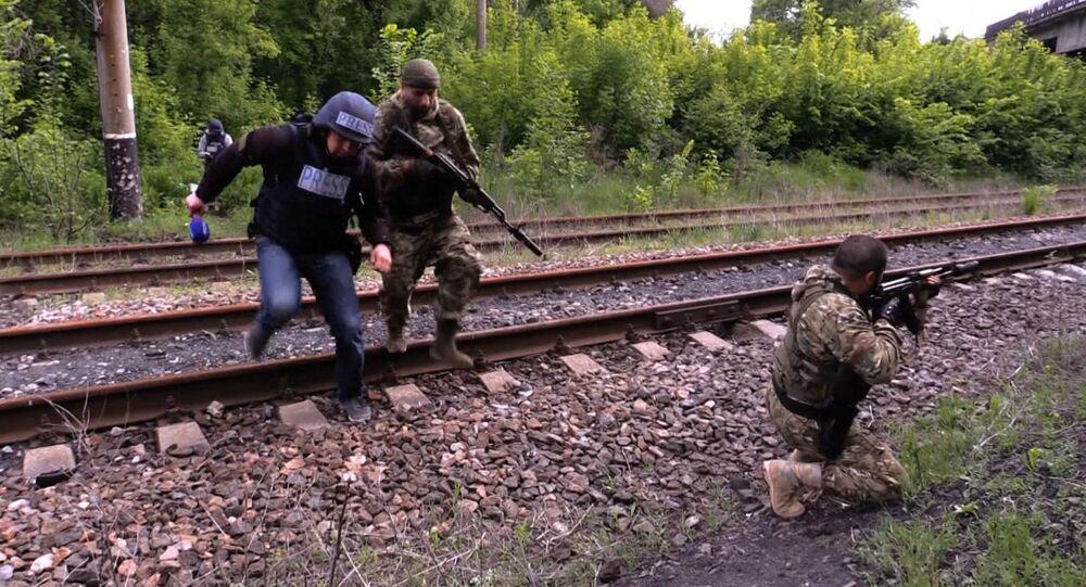 Local do ataque ucraniano a jornalistas