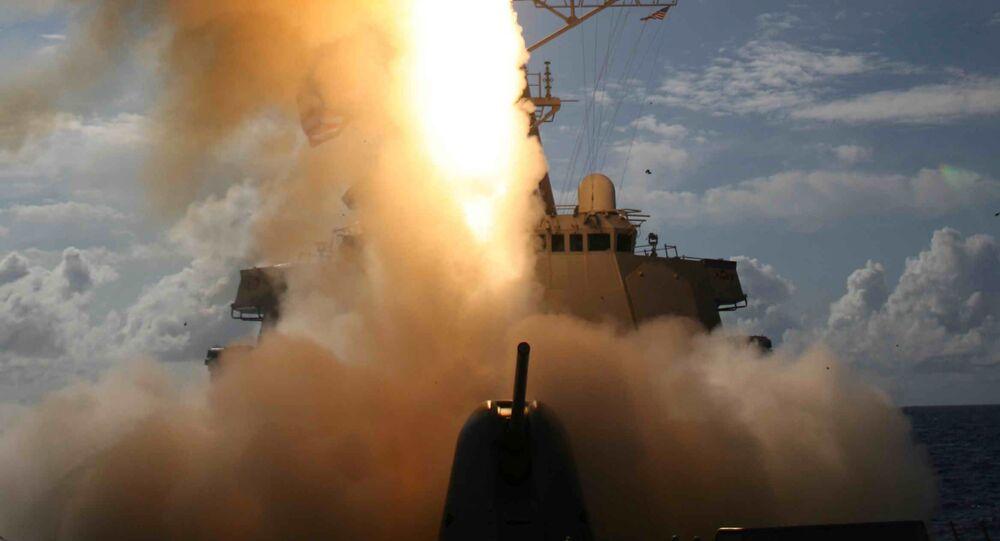 Míssil SM-3 está sendo lançado de destroier USS Decatur no Oceano Pacífico (imagem ilustrativa)