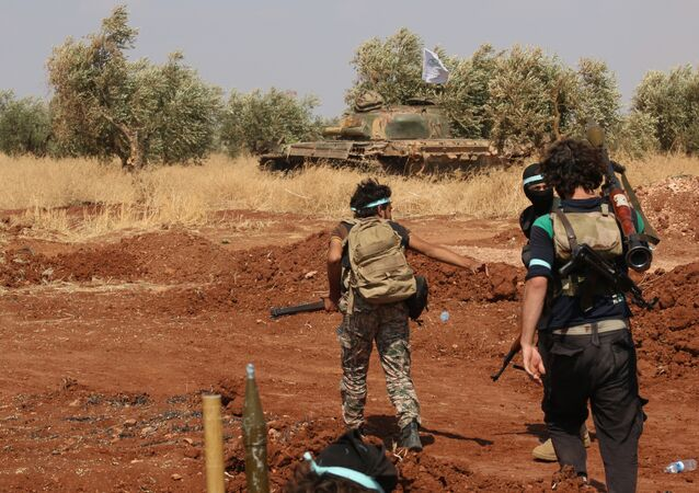 Rebel forces from Jaysh al-Islam (Army of Islam) (File)