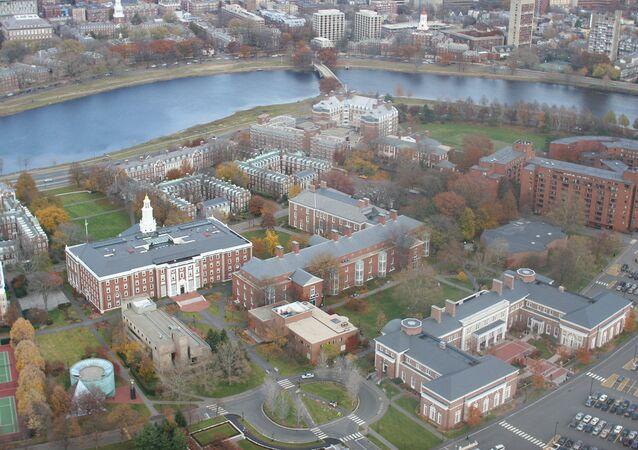 Campus da faculdade de negócios da Universidade de Harvard