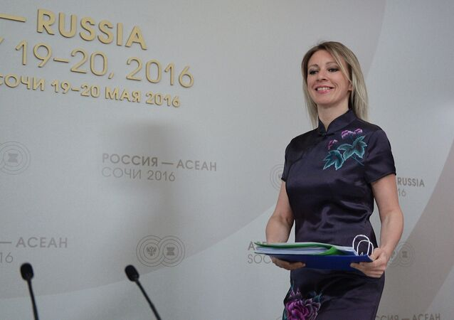 Maria Zakharova, porta-voz do Ministério das Relações Exteriores da Rússia
