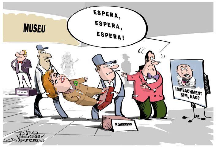 O presidente Dilma Rousseff, afastada do poder