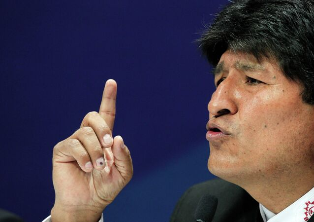 O presidente boliviano, Evo Morales