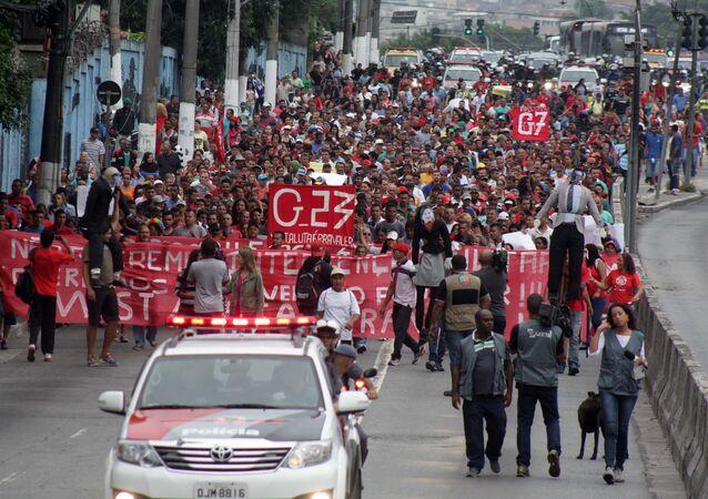 Protesto do MTST em São Paulo