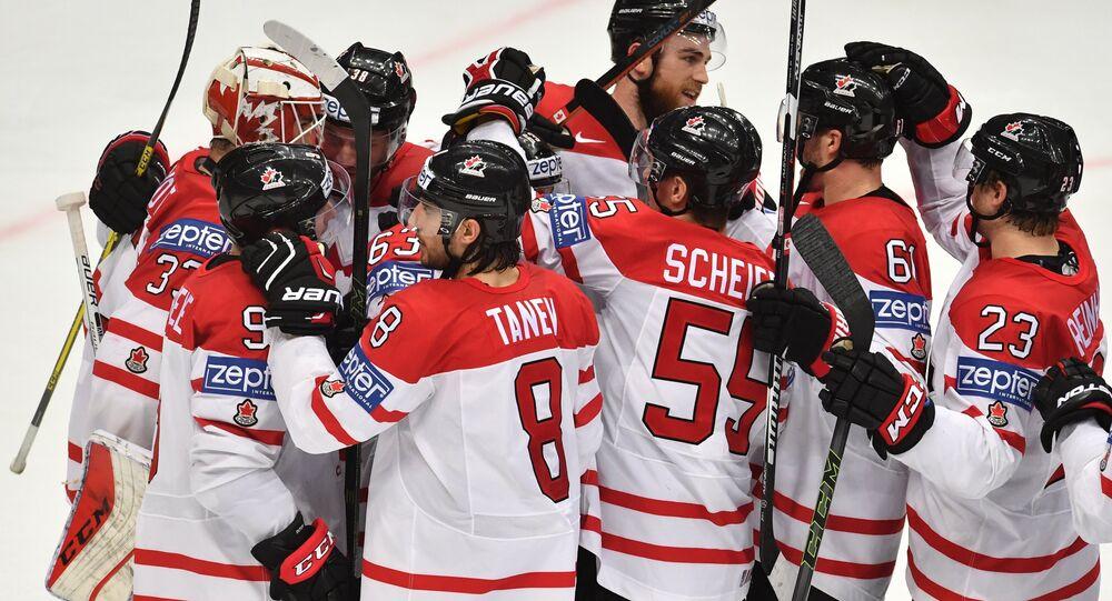 Canadá x EUA no Mundial de Hóquei no Gelo