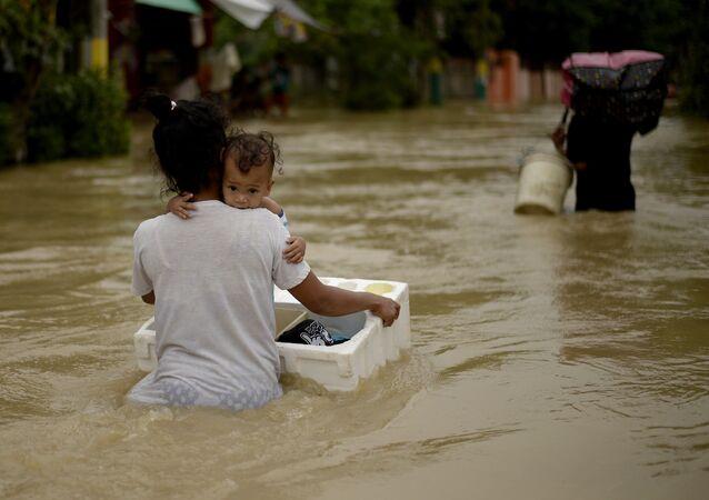 Catástrofe natural nas Filipinas (foto de arquivo)