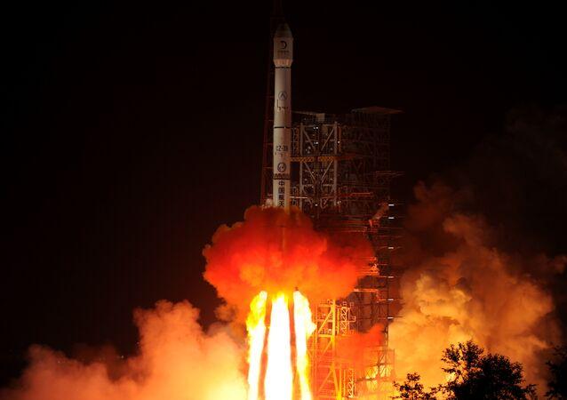 Lançamento espacial na China (imagem ilustrativa)