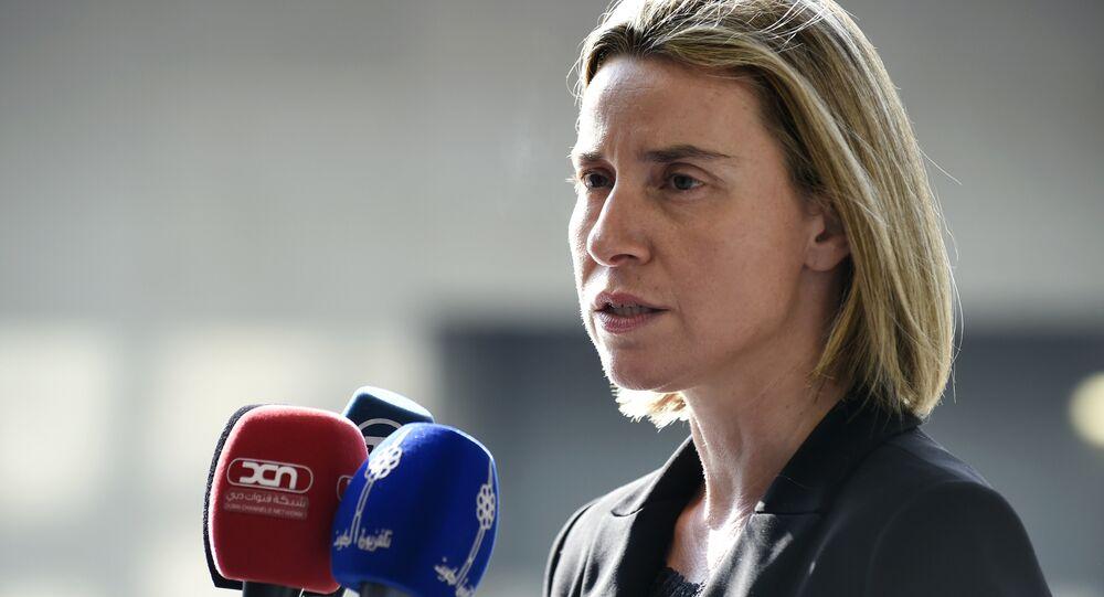 Chefe da diplomacia europeia Federica Mogherini (foto de arquivo)