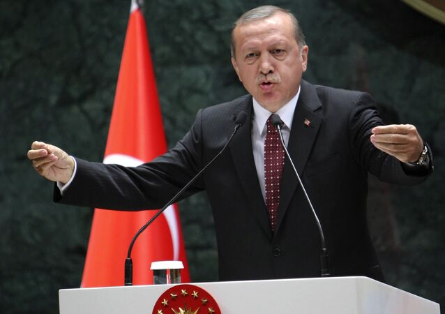 Presidente turco Tayyip Erdogan em 10 de maio, 2016