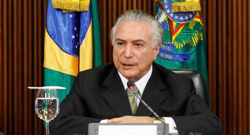 Michel Temer durante apresentação das medidas econômicas