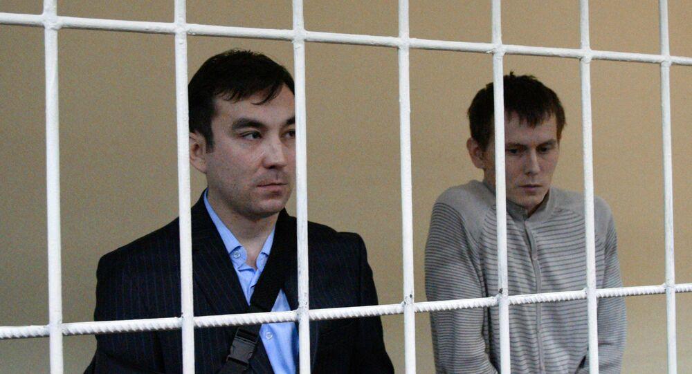 Cidadãos russos Aleksandr Aleksandrov e Yevgeny Yerofeev, condenados pelo tribunal ucraniano a 14 anos da prisão