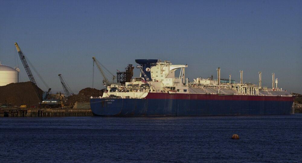 Matthew, navio-tanque de gás liquifeito, nos EUA
