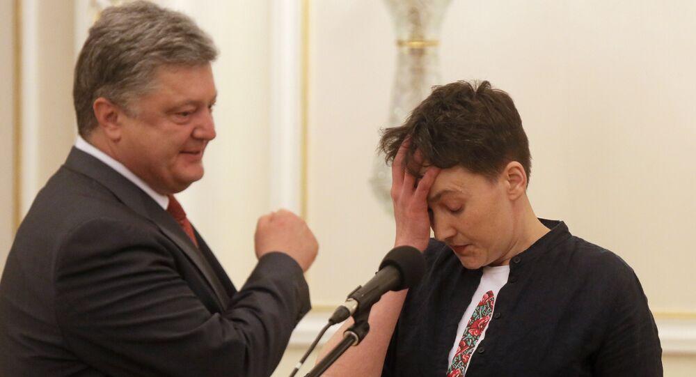 Militar e deputada ucraniana Nadezhda Savchenko