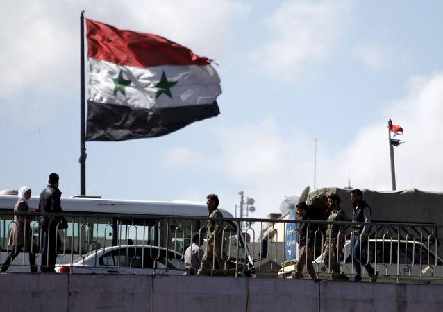 Bandeira da Síria em Damasco