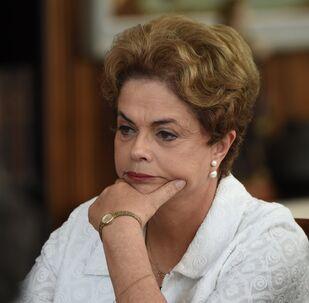 Dilma Rousseff, presidenta brasileira afastada