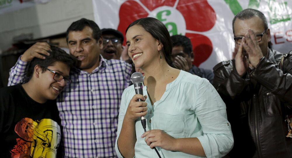 Verónika Mendoza candidata à presidência do Peru